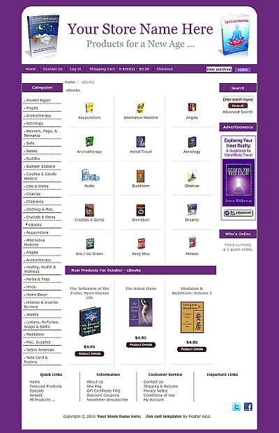 New Age eBook Store Demo