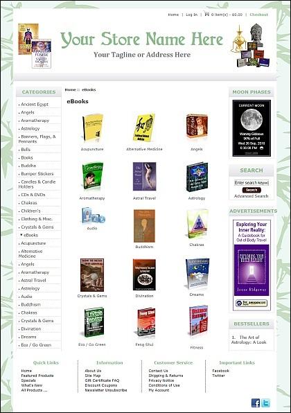 New Age eBook Store Demo